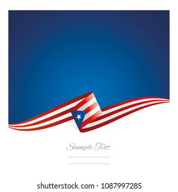 New abstract Puerto Rico flag ribbon