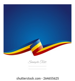 New abstract Romania flag ribbon
