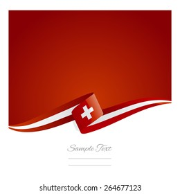 New abstract Swiss flag ribbon