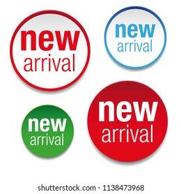 New Arrival label tag set vector