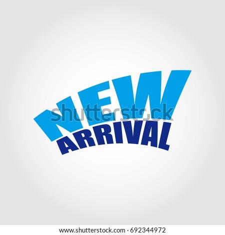 new arrival logo stock vector royalty free 692344972 shutterstock