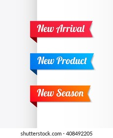 New Arrival, New Product & New Season Ribbons