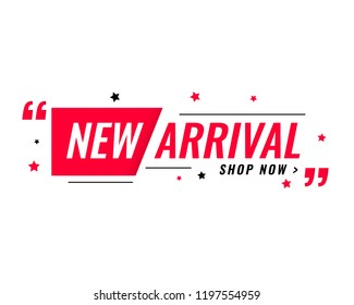 new arrival simple modern banner