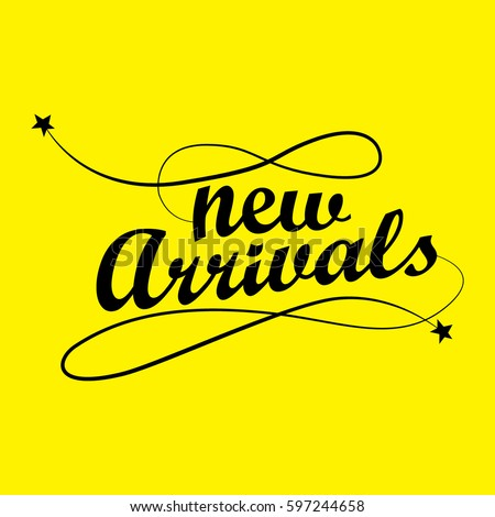 new arrival typography のベクター画像素材 ロイヤリティフリー