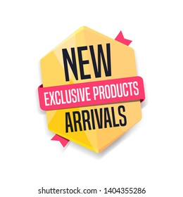 New Arrivals Exclusive Products Shopping Label