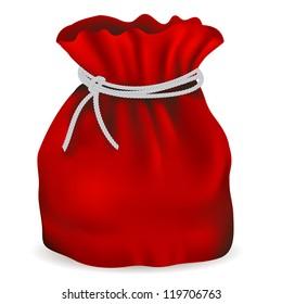 New bag of Santa Claus, vector illustration