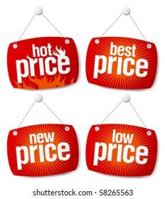 New best price signs set