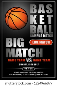 New Big Match Basketball Flyer for any of campus basketball match