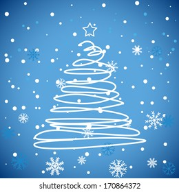 New Blue Christmas Background. Abstract Vector Illustration