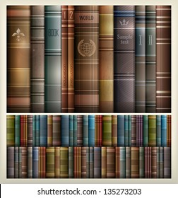 New book stacks color background,. Vector Illustration.