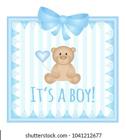 New born baby announcement card- It's a boy