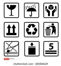 New box sign warning vector icon
