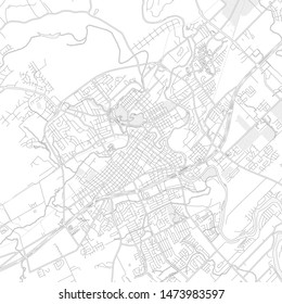 New Braunfels, Texas, USA, bright outlined vector map with bigger and minor roads and steets created for infographic backgrounds.