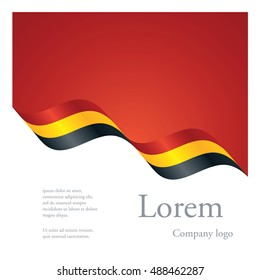 New brochure abstract design modular pattern of wavy flag ribbon of Belgium