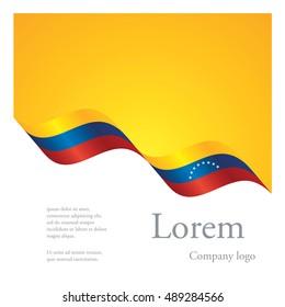 New brochure abstract design modular pattern of wavy flag ribbon of Venezuela