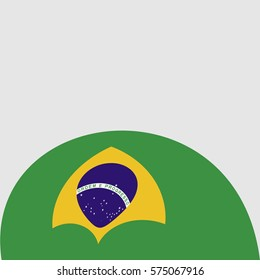 New brochure abstract design modular pattern of wavy Flag of Brazil template background