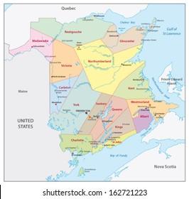 new brunswick administrative map
