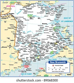 New Brunswick Province Map