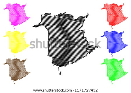 Provinces And Territories Of Canada Map.New Brunswick Provinces Territories Canada Map Stock Vector Royalty