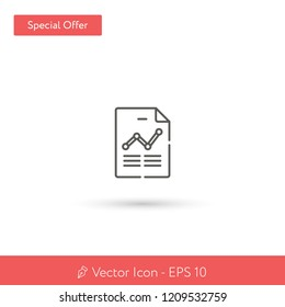 New Chart vector icon. Modern, simple, isolated, flat best quality icon for web site designs or mobile apps. Vector illustration EPS 10.