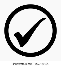 New check mark icon vector. Commercial line vector icon for websites and mobile minimalistic flat design.