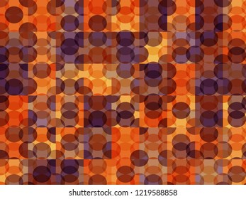 New circles geometric background. Trendy magenta, orange colors spherical pattern. Completely new abstract circles texture. Pop-art mosaic ornament.