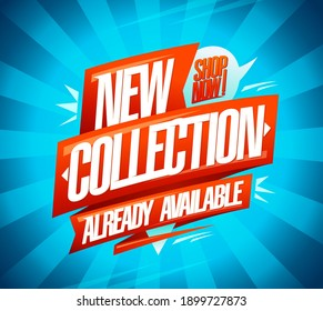New collection already available, vector banner template