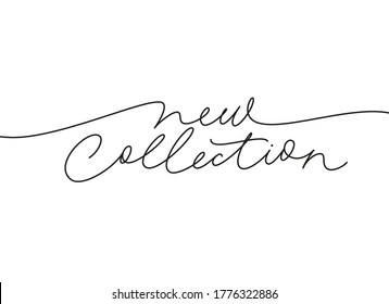 New collection continuous line vector lettering. Modern slogan handwritten vector calligraphy. Black paint lettering isolated on white background. Design for social media, advertising design, banner,