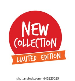 New Collection Label Logo Vector Template