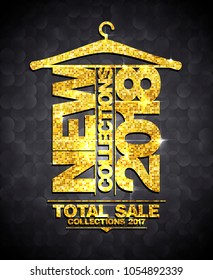 New collections 2018, sale collections 2017 vector banner