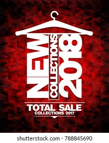 New collections 2018 vector banner, total sale collections 2017