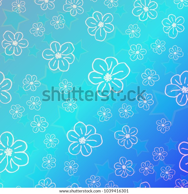 New color pattern with many flower.