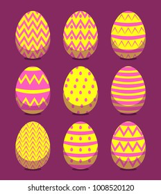 New Colorful Happy Easter eggs vector illustration. Cute holiday card  design for kids and adults a9dbe7c1c