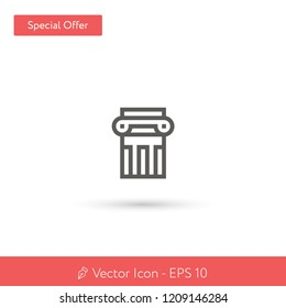 New Column vector icon. Modern, simple, isolated, flat best quality icon for web site designs or mobile apps. Vector illustration EPS 10.