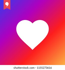 New Counter Notification Icon Instagram. Follower. New Icon like 1 insta symbol, button. Social media like insta ui, app, iphone. Vector illustration. EPS 10.
