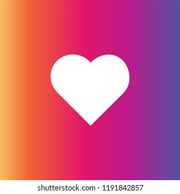 New Counter Notification Icon Instagram. Follower. New Icon like 1 insta symbol, button. Social media like insta ui, app, iphone.