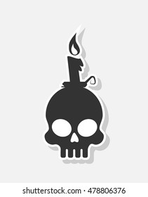 new and creative style sticker on background skull