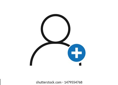 New customer icon vector on white background