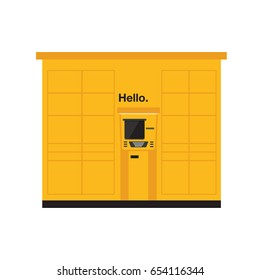 how to open a parcel locker