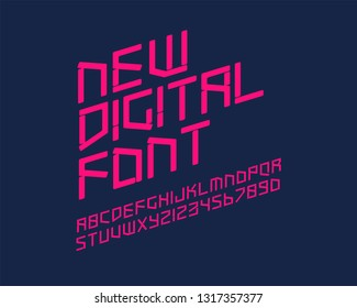 New Digital Font Set