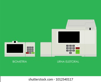 New Electoral Urn Translations: Urna means Urn Eleitoral Electoral Branco White Corrige Corrects Confirma Confirm Biometria Biometry