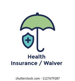 New Employee Hiring Process icon w health insurance waiver