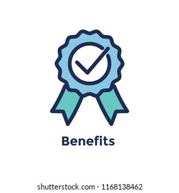 New Employee Hiring Process icon w benefits ribbon