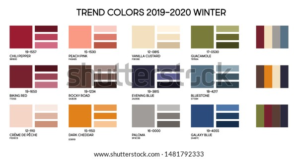 Color Trends 2020 Fashion.New Fashion Color Trend Winter 2019 Backgrounds Textures