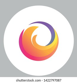 New firefox logo. Abstract emblem.