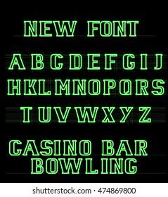 The new font english alphabet