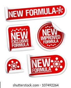 New Formula stickers set.