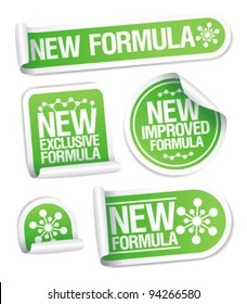 New Formula stickers set.