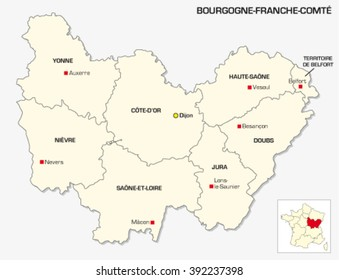 New French administrative region Bourgogne-Franche Comte