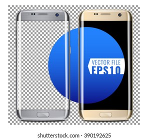 New generation of Gold and Silver smart phone Vector Mock Up fully Re-size-able and Scale-able with high resolution great for web design showcase, product, presentations, advertising in modern style.